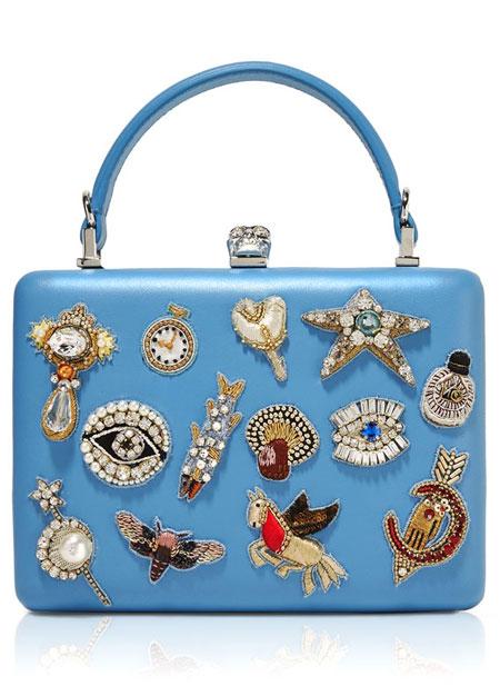 Alexander McQueen The Box Charm Clutch Bag