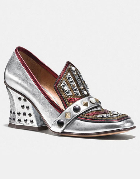 Coach Bejeweled Loafers Pumps