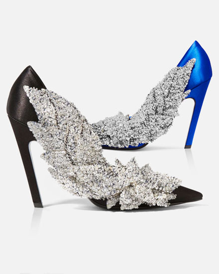LOVIKA LIST - Balenciaga Sequin Embellished Satin Pumps