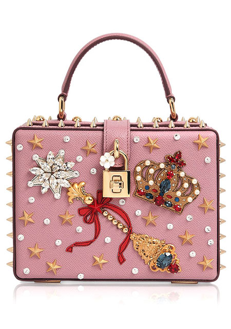 Dolce & Gabbana Embellished Box Clutch Bag | Lovika