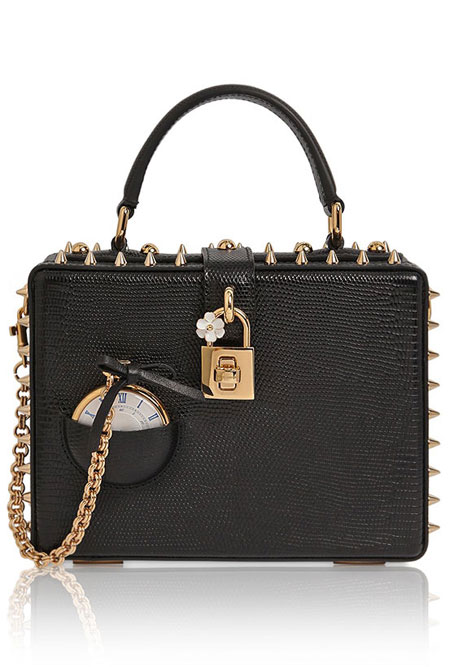 Dolce & Gabbana Pocket Watch Box Clutch Bag