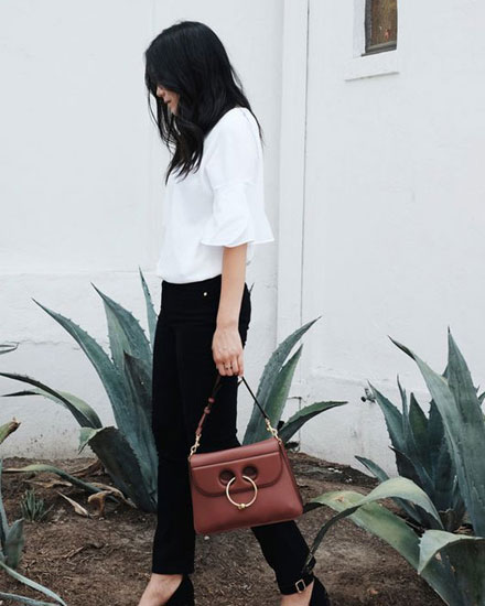 LOVIKA | JW Anderson Pierce shoulder bag street style
