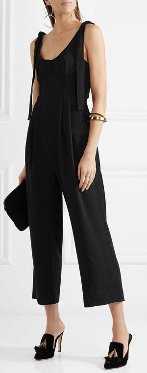 Rebecca Vallance Curtside Black Jumpsuit | Lovika