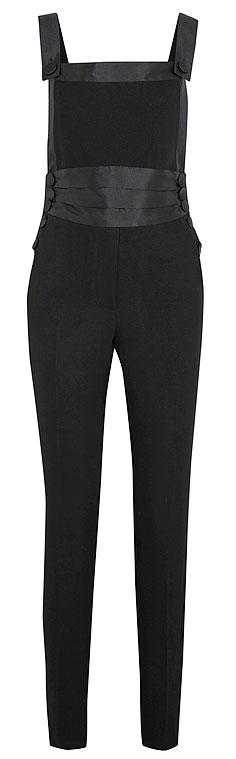 Ronald Van Der Kemp Smoking Silk-Blend Jumpsuit #Black | Lovika