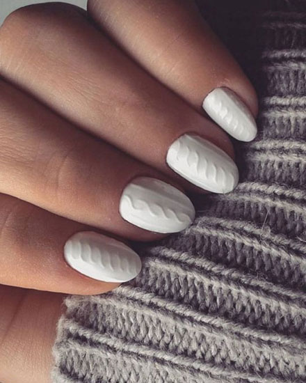 LOVIKA | 50 Beautiful Winter Nails Art & Design Ideas