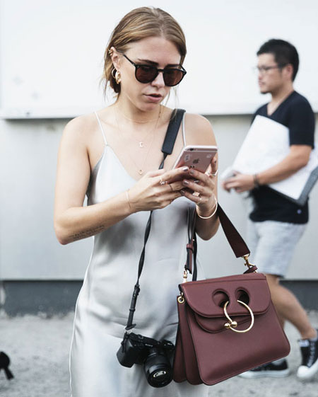 JW Anderson Pierce Bag Street Style | Lovika.com
