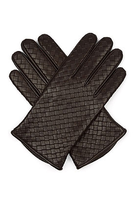 BOTTEGA VENETA Intrecciato-leather gloves | Lovika