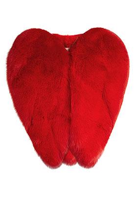 Saint Laurent Heart Fur Cape | Lovika