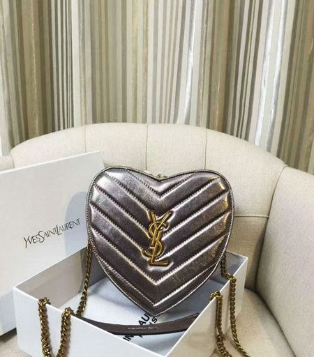 Saint Laurent Heart Crossbody Bag | Lovika.com