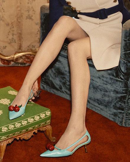 LOVIKA | Style Crush - Gucci Cherry sandals #pumps