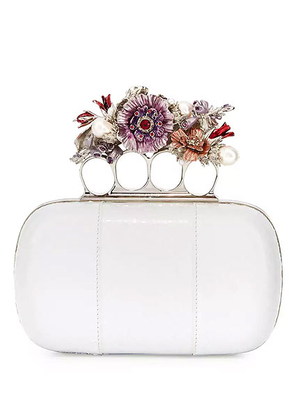 McQueen Floral Knuckle Clutch