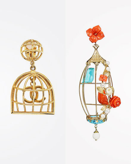 Birdcage Earrings - Chanel OR Of Rare Origin? | Lovika