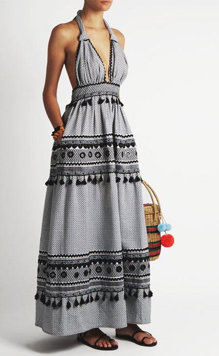 Summer Beach Halter Maxi Dress | Lovika #Resort #Collection