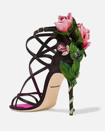 b3ea58a67d8c Lovika List - Dolce   Gabbana Keira Embellished Satin Sandals