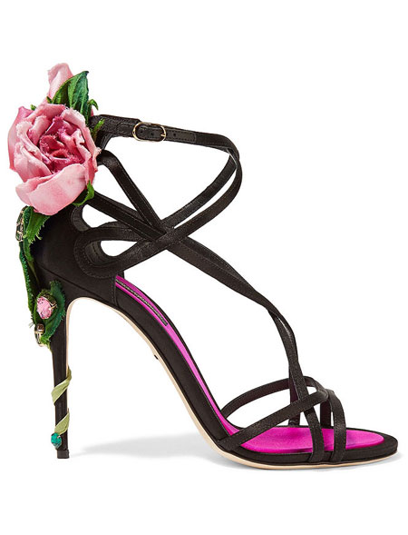 Lovika List - Dolce & Gabbana Rose-Embellished Sandals