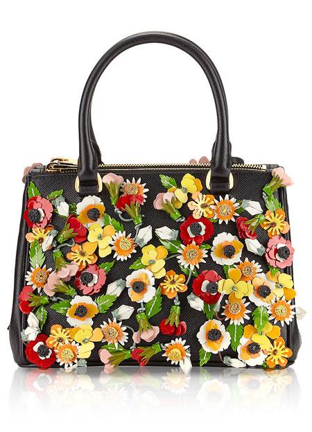 Prada Garden Saffiano Satchel Bag | Lovika