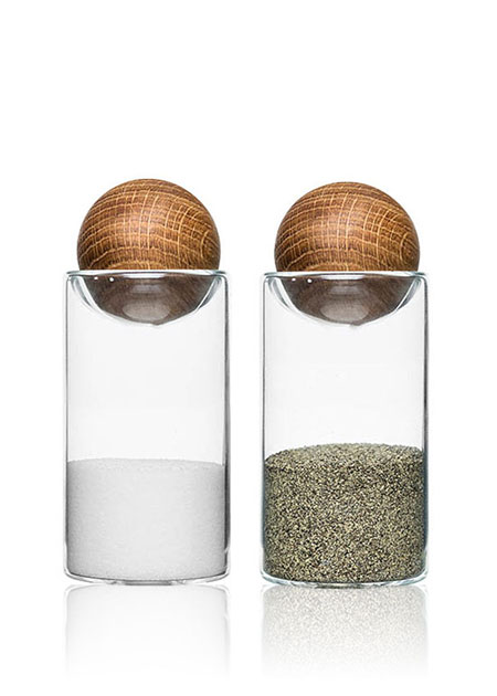 Sagaform Oak Stopper Salt and Pepper Shaker | Lovika