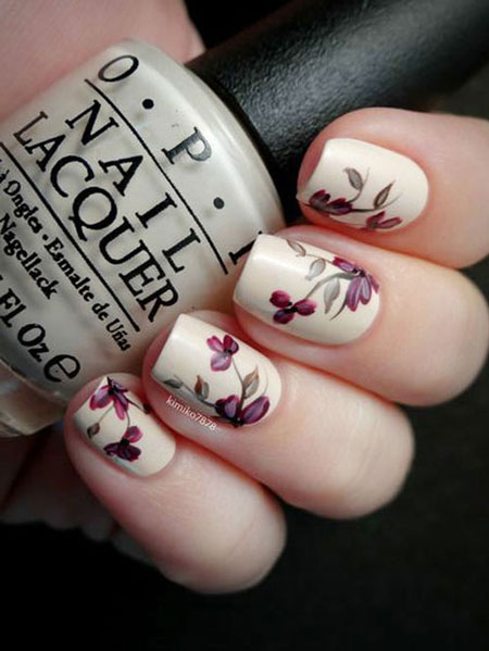 50 Must-Try Nail Art Ideas for Spring | Lovika #simple #flowers #bright