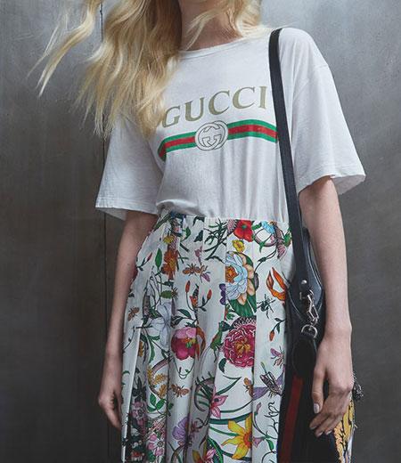 White T Shirt + Midi Skirt | Lovika Outfit Ideas #Tee #OOTD