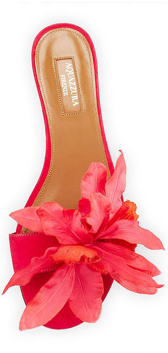 Aquazurra Flore Slider | Lovika #shoes