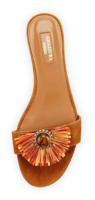 Aquazurra Samba Slider | Lovika #shoes