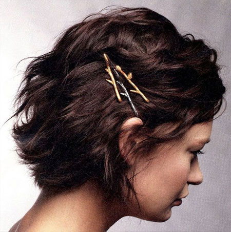 15 Easy bobby pins hairstyles for short hair | Lovika #simple