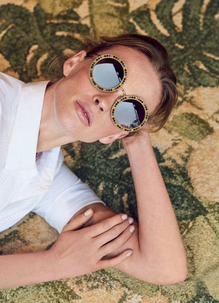 Dolce & Gabbana crystal-trimmed round sunglasses | Lovika #designer #sunglasses