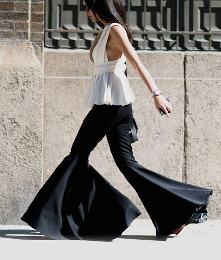 Street Style: How to Wear Extra Flare Pants | Lovika #OOTD #outfits #ideas