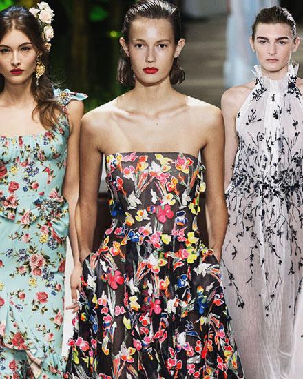25 Best designer floral dresses | Lovika #SS17 #Runway