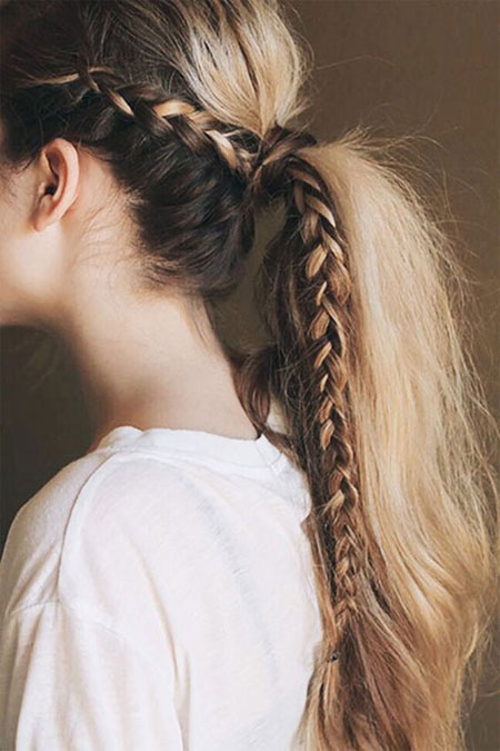 Easy ponytail hairstyles for long hair #messy