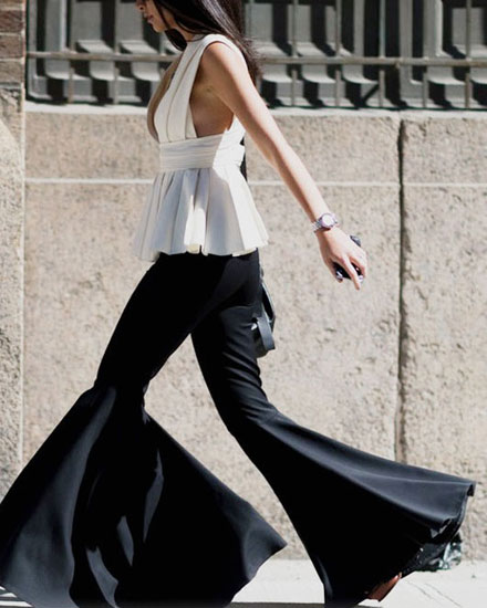 How to Wear Flared Pants Like Chic Parisian Girls