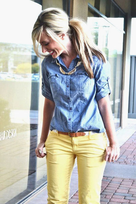 How to wear a denim shirt outfit in spring and summer   Lovika #OOTD