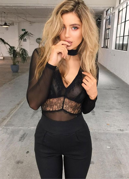 bccfbaab522 The Hottest Trends - How to Wear Black Bodysuit Outfit