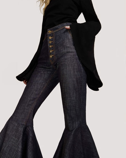 LOVIKA | ruffled flared pants and jeans