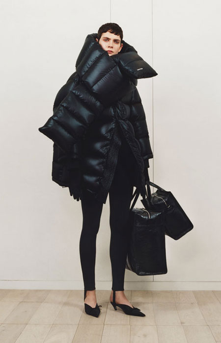 Balenciaga pointy-toe satin mules | Lovika #heels #flat #black