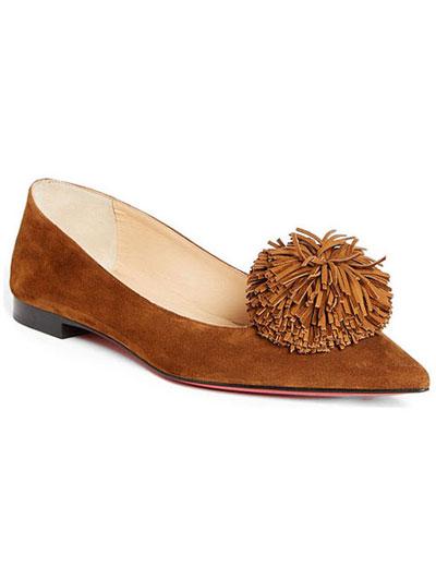 Christian Louboutin pre-fall 2017 shoes | LOVIKA #flats #suede