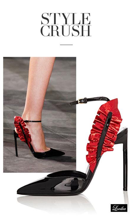 Lovika style crush - Saint Laurent ruffled sandals