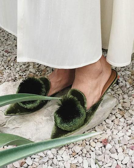 Style Crush: Aquazurra Powder Puff Shoes