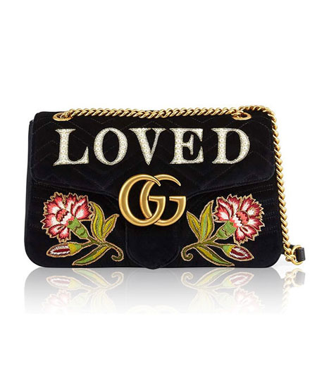LOVIKA Edit | Gucci Marmont bags in embroidered velvet