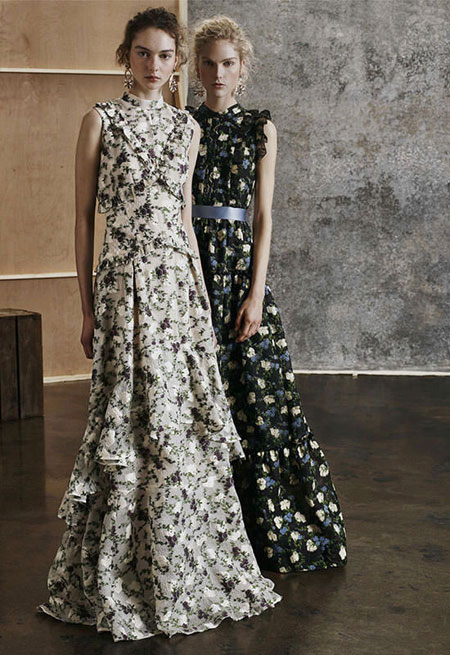 LOVIKA | Erdem Pre-fall 2017 Dresses #lookbook #fashion #editorials