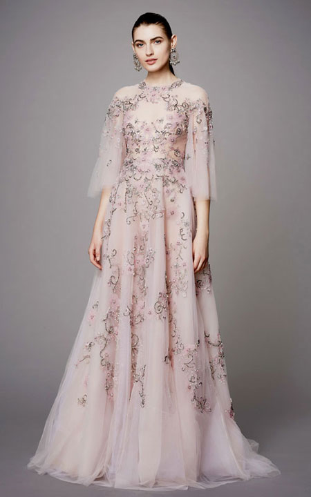 LOVIKA | Marchesa Pre-Fall 2017 Evening Gowns and Dresses #floral