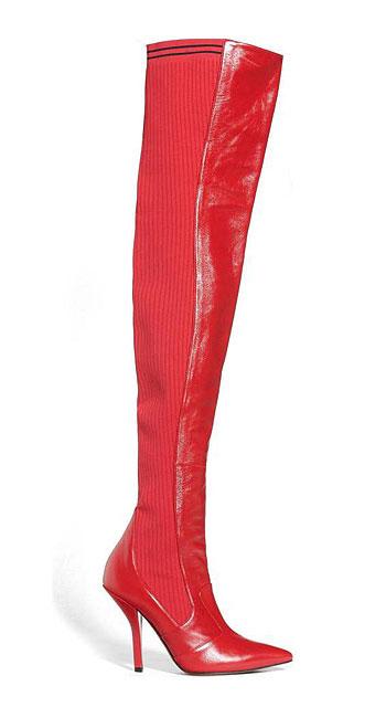 LOVIKA | Fendi Rockoko over-the-knee red boots