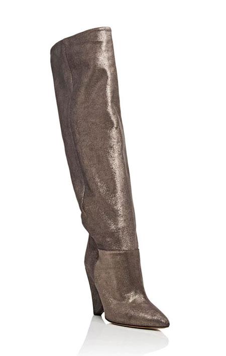 LOVIKA | Isabel Marant Metallic Suede Knee Boots