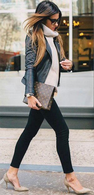 LOVIKA | 25 Chic Business-Casual Work Outfits for Fall #jeans #blazer