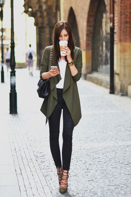 LOVIKA | 25 Chic Business-Casual Work Outfits for Fall #cardigan #black #pants