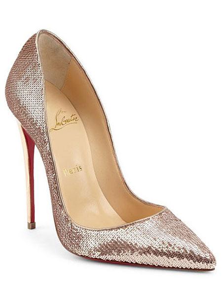 LOVIKA | 7 New Christian Louboutin Wedding Shoes #pumps #sandals #sequin #gold