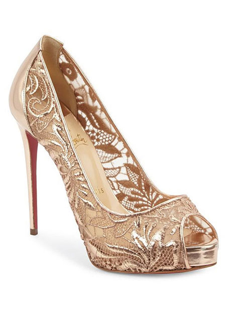 LOVIKA | 7 New Christian Louboutin Wedding Shoes #pumps #sandals #sequin #gold