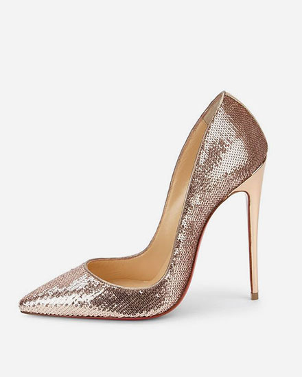 LOVIKA | 7 New Christian Louboutin Wedding Shoes #pumps #sandals #sequin #gold #nude