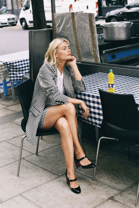 How to wear oversized blazer this fall #outfits #street #style #casual #mini #skirts