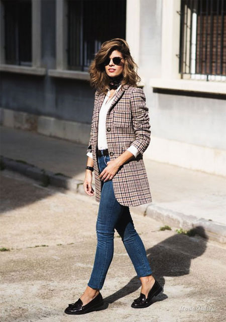 How to wear oversized blazer this fall #outfits #street #style #jeans #casual #tshirt